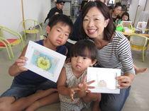 保育園での親子パステル教室