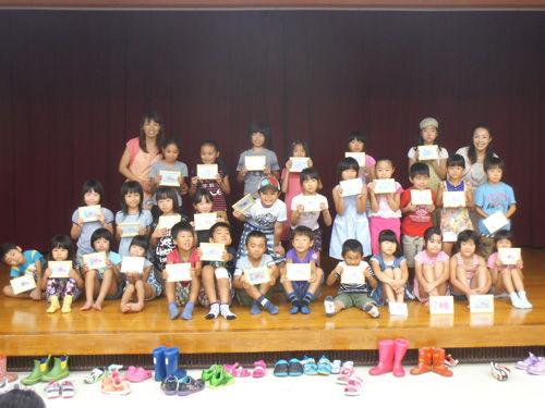 公民館で30人の子供達とパステルアート