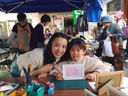 仁保公民館祭りでパステルアート体験