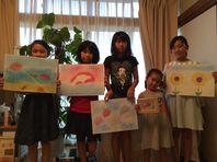 8月21日パステルアート教室宇品リフレにて開催